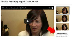 Egyéni indexkép a YouTube videóhoz