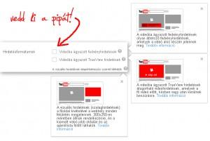 Hirdetések kikapcsolása a saját videónkban