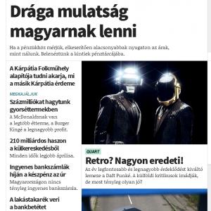 A megújult ORIGO-n a hangsúlyos főcímek