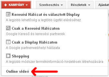 AdWords Videokampány